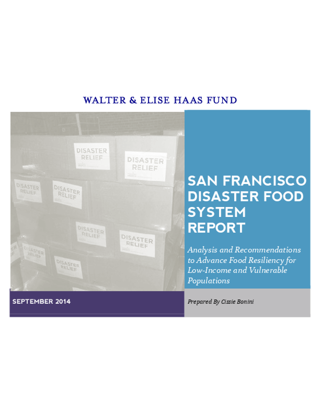 San Francisco Disaster Food System Report