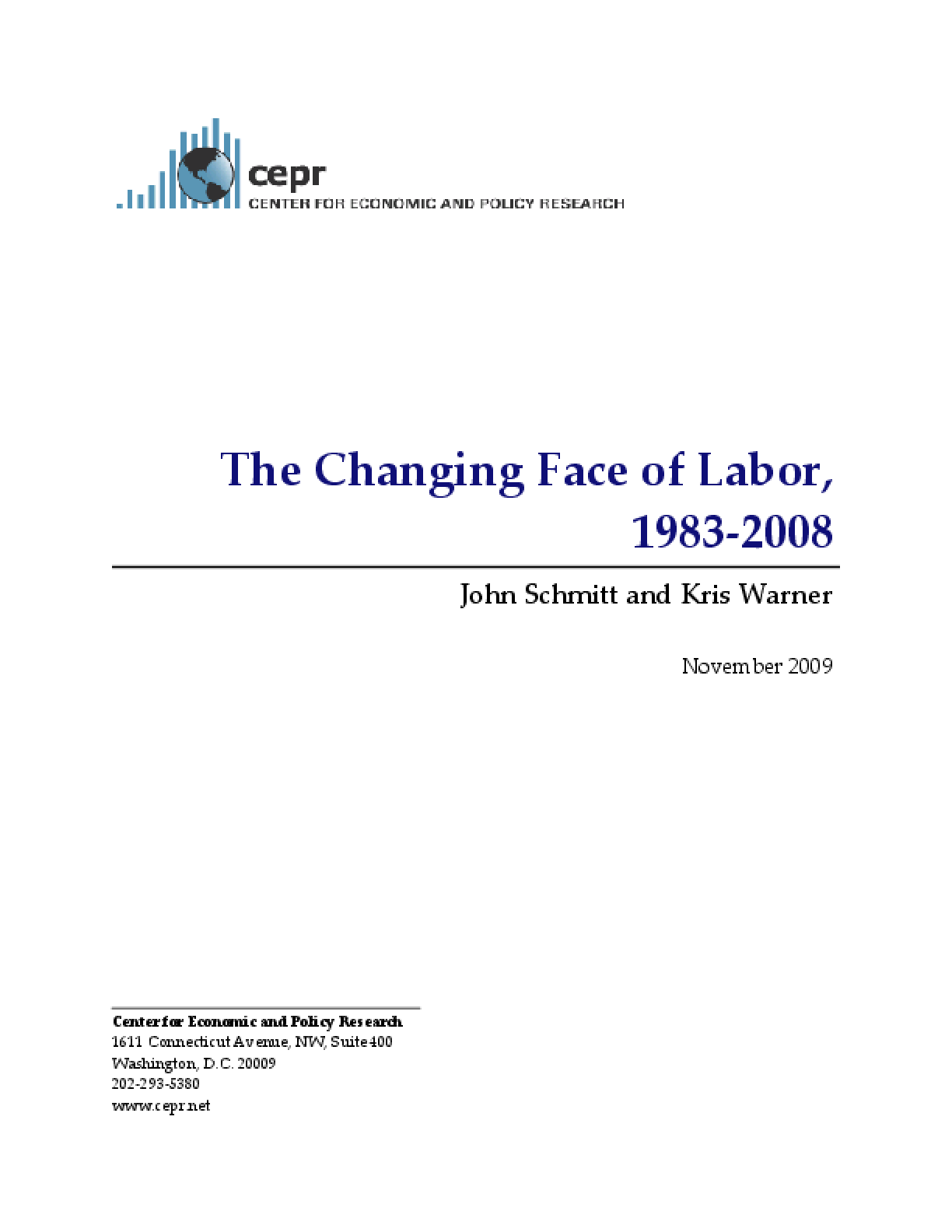 The Changing Face of Labor, 1983-2008