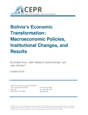 Bolivia's Economic Transformation: Macroeconomic Policies, Institutional Changes, and Results