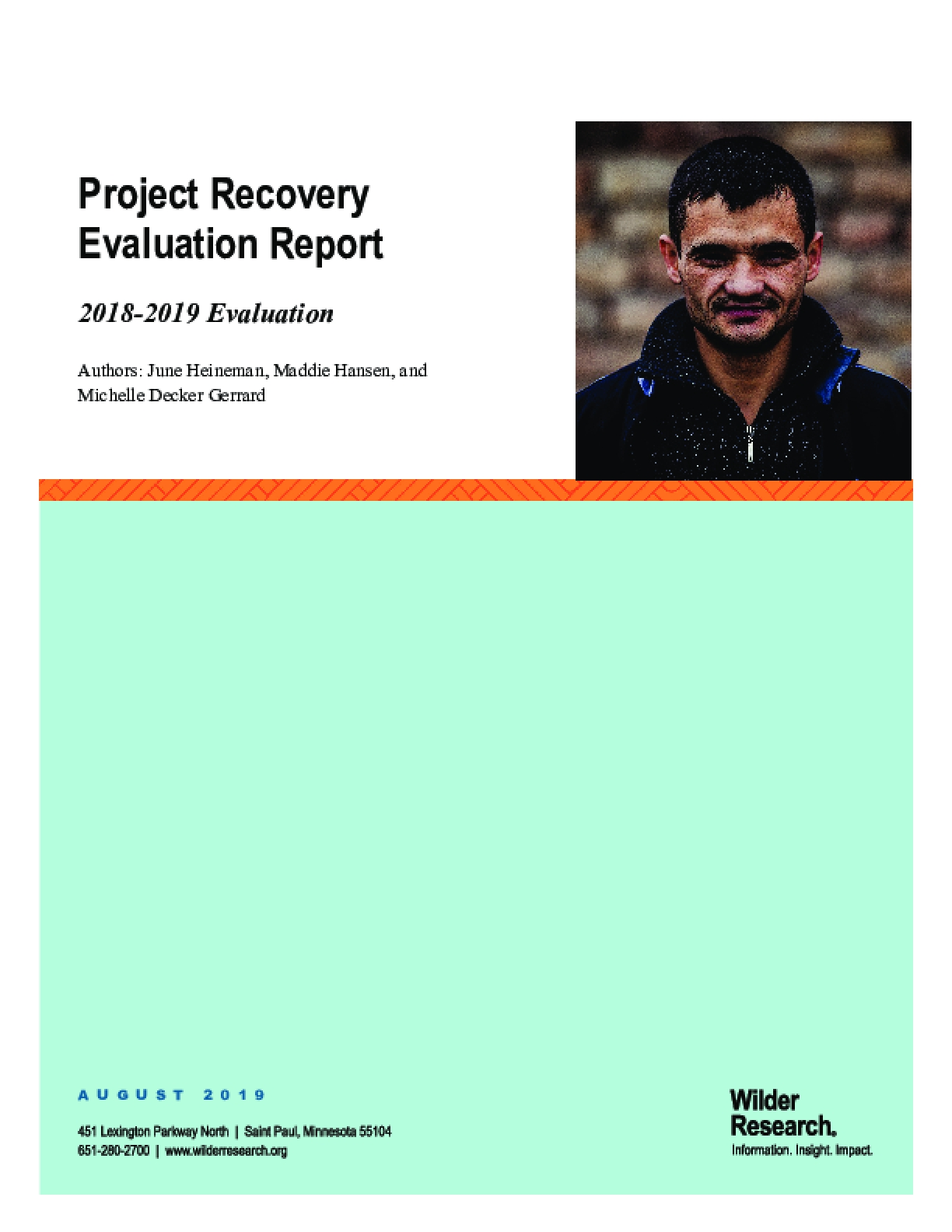 Project Recovery Evaluation Report: 2018-2019 Evaluation