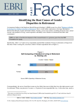 Fast Facts: Identifying the Root Causes of Gender Disparities in Retirement